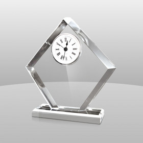 Diamond-Shaped Acrylic Clock